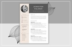Beautiful Resume Design Template Resume Template & Cover Letter by ResumeStudio on @creativemarket