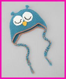Teal Sleeping Owl