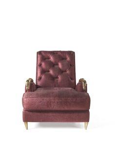 Roberto Cavalli Snake Armchair Front #FurnitureDesign #RobertoCavalliInteriors #LuxuryDesign