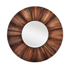 Add rustic charm to your home's decor with the Kona Mirror. This stunning beveled wall mirror features a natural rustic wood finish that will enhance any home's decor. - Dimensions: 36w x 1.5d x 36h