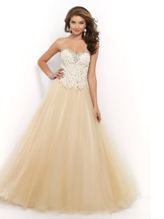 Ball Gown Sweetheart Sleeveless Tulle Applique Floor-Length Dresses - Prom Dresses 2016 - Prom Dresses