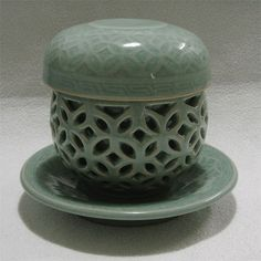 Single serve green tea teacup set / Made in Korea / Hand made teacup  ! #KoreanPottery