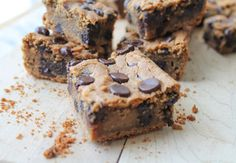 Chocolate & Peanut Butter Chickpea Cookie Bars - {Vegan & GF}