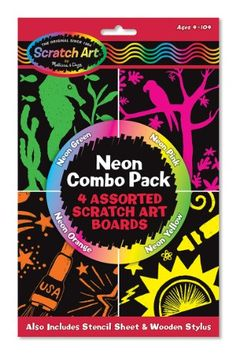 Melissa and Doug Neon Scratch Art Combo Pack * For more information, visit image link.