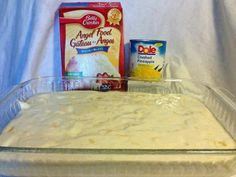Click **Share** to *Save* this Awesome Recipe to your Timeline!  Hawaiian Delite Cake--ONLY 2 INGREDIENTS!!!  One box Angel Food cake mix and 1 can approx 20 oz crushed pineapple, do not drain...add juice and all. Mix by hand in a large bowl, it foams up a lot. Heat oven to 350*, lightly spray a 9x13 cake pan and bake for about 30 minutes. That's it!...  /▌*˛˚ღ •˚ FOLLOW ME  Join us on the journey to better health! Group site here >> www.losingitwithkaren.com