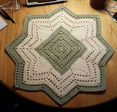 I am so excited to share my new pattern with you all. It truly did start with a square. I crocheted the first 2 squares (one in cream and on...