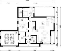 FX-31 - Rzut parteru Modern Family House, Architect House, Floor Plans, 1, Homemade Modern, Modern Homes, Floor Layout, Build House, Floor Plan Drawing