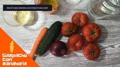 gazpacho con zanahoria - ingredientes