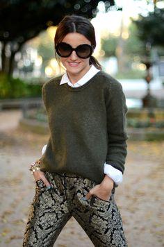 everything she wears is perfection i want those pants pants: Suiteblanco (au/w 12-13) bag: Givenchy – RUNin2 shoes: h&m (au/w 12-13) shirt: Zara (old) sweater: Zara (au/w 12-13) bracelets: Lowlita & you watch: Marc by Marc Jacobs iPhone case: Preppy Purple sunglasses: Prada – Ópticas Peláez
