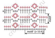 Free scheme openwork crochet pattern 1