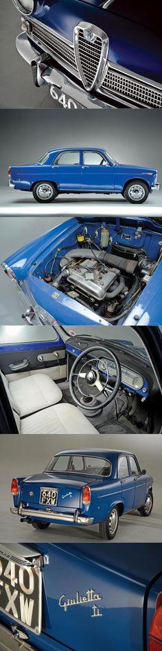 1957 Alfa Romeo Giulietta T.I. / Turismo Internazionale / 1.3l 64hp twin cam L4 / Franco Scaglione @ Bertone / Tipo 750/101 / Italy / blue / 17-348