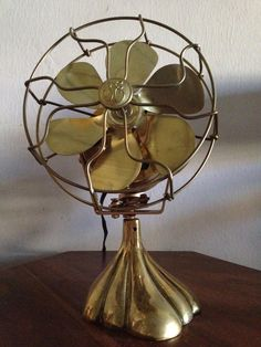 Discounted - Vintage Oscillating Brass Electric Fan by General Electric.. $250.00, via Etsy.