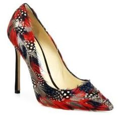 Jimmy Choo Romy Feather Point-Toe Pumps | SAKS FIFTH AVENUE saved by #ShoppingIS
