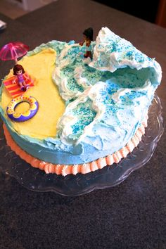 Surfer Cake with wave Tutorial