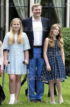 Dutch Royals family photocall, Eikenhorst in Wassenaar, The Netherlands - 08 Jul 2016 King Willem-Alexander and Princess Amalia, Princess Alexia 8 Jul 2016
