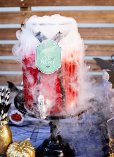 Fabulous Not So Spooky Halloween Birthday Bash Halloween Party Punch With Dry Ice And Floating Eyeballs Dry Ice Halloween, Halloween Drinks Kids, Halloween Entertaining, Halloween Eyeballs, Halloween Food For Party, Halloween Birthday, Spooky Halloween, Halloween 2020, Scary Halloween