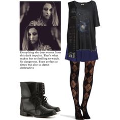 A fashion look from June 2016 featuring galactic t shirt, plus size tops and pretty polly stockings. Browse and shop related looks. Retro Outfits, Grunge Outfits, Cute Outfits, Fashion Outfits, Polyvore Outfits, Polyvore Fashion, Other Outfits, Affordable Clothes, Looks Vintage