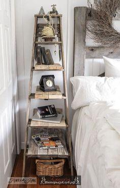 44 Из старой лестницы идеи для интерьера, стеллаж из лестницы своими руками, из старой лестницы своими руками для дома