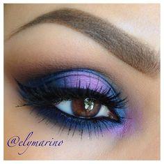 Perfect Purple Blue eye makeup