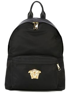 03261cd29546 Shop Versace Medusa backpack in Eraldo from the world s best independent  boutiques at farfetch.com