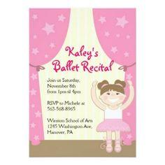 Ballet Recital Party Invitations