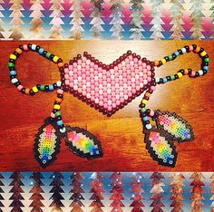Rainbow Feathered Heart Kandi Mask by ElectronicFeelz on Etsy