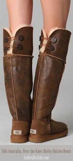 ac600fdcdb9b UGG Australia Over the Knee Bailey Button Boots--So cute! Tall Uggs