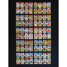 12 Láminas de cromos troquelados españoles grandes. Años 70. · PAREJAS DEL MUNDO · World, Die Cutting, Trading Cards, Originals, Jitter Glitter, Infancy, Couples