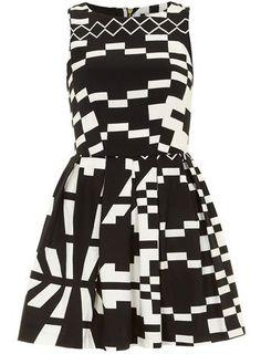 Black/white Aztec dress #DorothyPerkins
