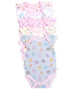 Rosie Pope Baby Girls' 5-Pack Bodysuits - Kids & Baby - Macy's