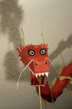Chinese dragon paper toy papercraft