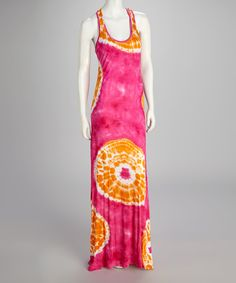 Take a look at this Pink Burst Tie-Dye Maxi Dress on zulily today!