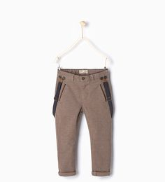 EBBY EID FIT : Trousers with braces-Formal-Trousers-Boy   4-14 years-KIDS   ZARA United States
