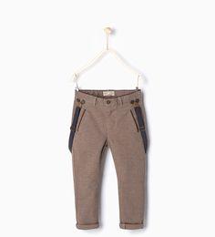 Imagen 1 de Pantalón  tirantes de Zara