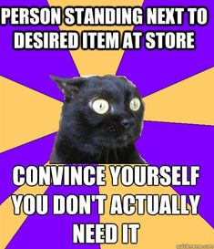 I'm laughing SO HARD right now because I have actually done this. #anxietycat