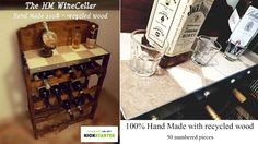 A unique wine cellar, handmade built with recycled wood, each model is crafted individually with a simple story same a born certificate