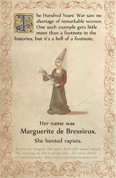 Rejected Princesses | Marguerite de Bressieux: Rapist Hunting Black...