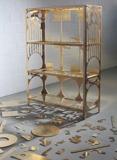 Parasite Production by Samuel Treindl: simultaneous production by cutting different objects from a single metal sheet