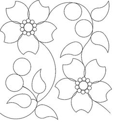 Cherry Blossom Panto Hand Quilting Patterns, Quilting Templates, Free Motion Quilting, Quilting Designs, Embroidery Patterns, Peacock Embroidery Designs, Hand Embroidery Flowers, Applique Designs, Quilt Stitching