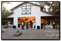 Brooksville Florida, Backyard Pavilion, Barn House Plans, Outside Living, White Barn, Barn Wedding Venue, Metal Buildings, Pool Houses, House Goals