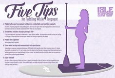 SUP Pregnant Tips Infographic