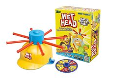Wet Head Game - A great game for hot summer afternoons! Pass the helmet around full of water, pull each stick out one at a time and hope you aren't the one to get wet!