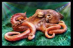 Sculpted Octopus by Wood-Splitter-Lee.deviantart.com