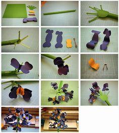 Bits of Paper: 3D Paper Flowers!