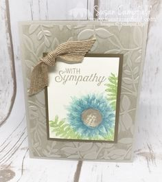 I love making cards with this beautiful Painted Harvest stamp set - the texturing on the stamp makes such gorgeous creations! I used ink colors from the Stampin' Up! Subtles Collection for the flower
