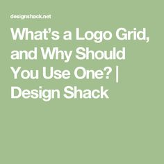 What's a Logo Grid, and Why Should You Use One? | Design Shack