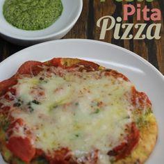 Pesto Pita Pizza