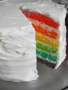 simply homemade: A rainbow cake...I couldn't resist!