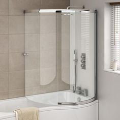 A shower bath screen will improve the style and functionality of your bathroom. Shop the best range of l shaped and p shaped shower bath screens now online. Best Bathroom Designs, Bathroom Design Small, Bathroom Layout, Bathroom Interior, Bathroom Ideas, Small Bathroom Floor Plans, Ensuite Bathrooms, Upstairs Bathrooms, Small Bathrooms