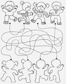coordenação motora fina, coordenação viso-motora, linhas pontilhada, seguir o caminho,crianças,sonbras